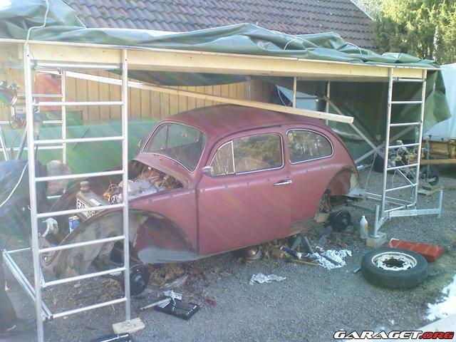 garage av presenning
