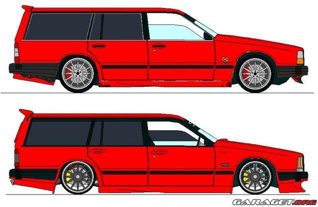 Volvo 745 Gl 1988 Garaget