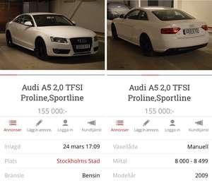 Audi A5 Coupe 2,0 Tfsi S-line