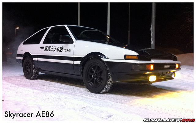 my ae86 in the snow. Black Bedroom Furniture Sets. Home Design Ideas