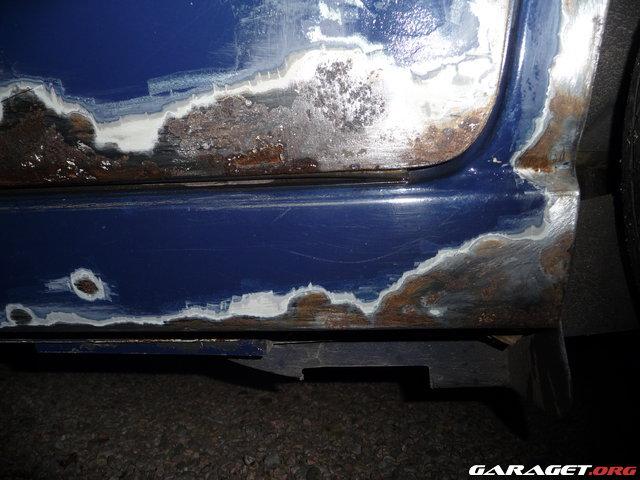 blästra rost på bil