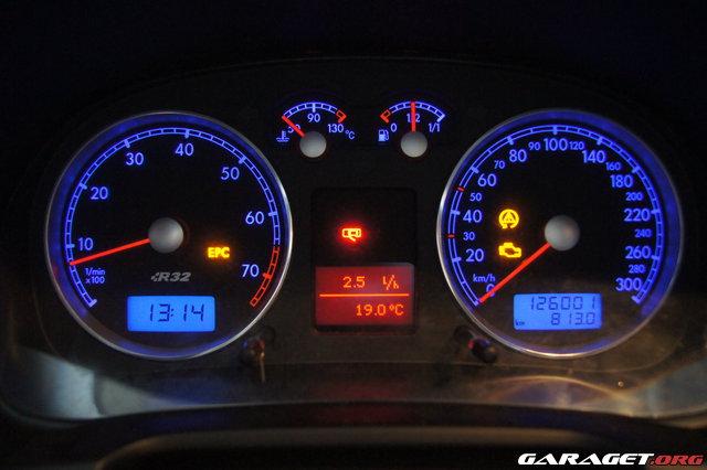Garaget Golf R32 Iv Motorlampa Antispinn Och Epc Lyser